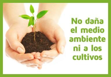 No daña el medio ambiente ni los cultivos